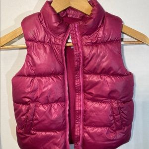 Old Navy Pink Puffy Vest for Girls